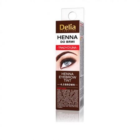 Henna pentru sprancene traditionala Delia Cosmetics brown