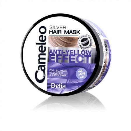 Masca de par neutralizeaza tonurile de galben Delia Cosmetics Silver