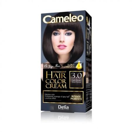 Vopsea de par Delia Cosmetics Cameleo, 3.0 Dark Brown