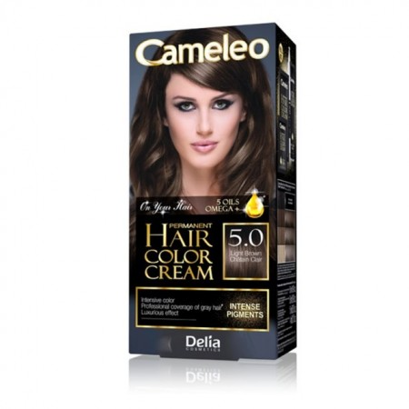 Vopsea de par Delia Cosmetics Cameleo, 5.0 Light Brown