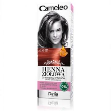 Vopsea de par Henna Creme Delia Cosmetics Cameleo 6.6 ruby