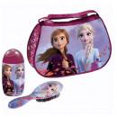 Gentuta cosmetice copii Frozen, cu perie de par si gel de dus si sampon, 120ml