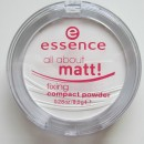 Pudra compacta translucenta Essence All About Matt!