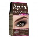 Vopsea pentru sprancene Henna, Revia, culoare maro