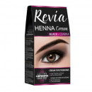 Vopsea pentru sprancene Henna, Revia, culoare negru