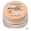 Fond de ten Catrice Matt 12h Mousse make-up 15 Sand Beige