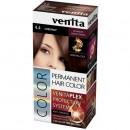 Vopsea de par permanenta Venita PLEX nr 4.4 chestnut