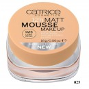 Fond de ten Catrice Matt 12h Mousse make-up 25 Light Beige