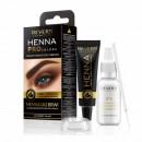 Vopsea sprancene, Henna Pro Colors Revers, Negru, 15ml