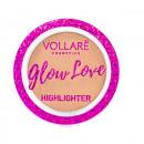 Iluminator pudra Glow Love Highlighter, Vollare Cosmetics, 5 g