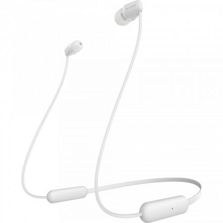 Casti SONY WIC200W, Bluetooth, In-Ear, Microfon, Autonomie baterie 15 ore, Alb
