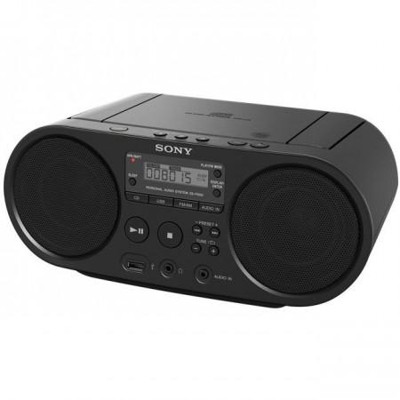 Microsistem audio Sony ZSPS50, CD Player, tuner FM, 2x2W, USB, Negru