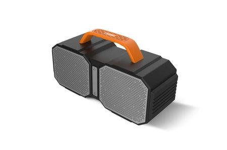 Boxa portabila Blaupunkt BT50BB, FM, USB, Aux, port SD card, Bluetooth, 15W RMS, rezistent la apa, functie de acumulator extern, negru/gri