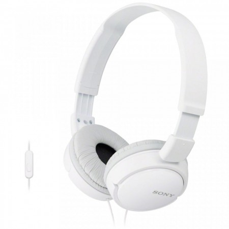 Casti audio Sony MDRZX110APW, tip DJ cu control telefon, Alb
