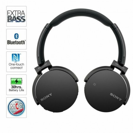 Casti Sony MDRXB650BT, Bluetooth, extra-bass, Negru