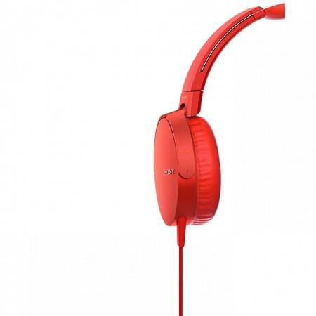 Casti audio Sony MDRXB550APR, EXTRA BASS, Difuzor neodim 30mm, Rosu