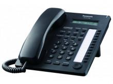 Telefon proprietar Panasonic KX-AT7730NEB, analogic, NEGRU