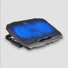 """Gaming Notebook cooler White Shark CP-25 ICE WARIOR - 4 Built- in fans (big fans: 125mm, small fans: 70mm) with blue LEDs; For all laptops with screen size up to 17,3"""""""