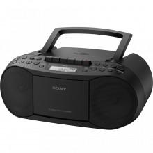 Sistem audio Sony CFDS70B, radio, CD, casetofon, Negru