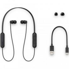 Casti SONY WIC200B, Bluetooth, In-Ear, Microfon, Autonomie baterie 15 ore, Negru