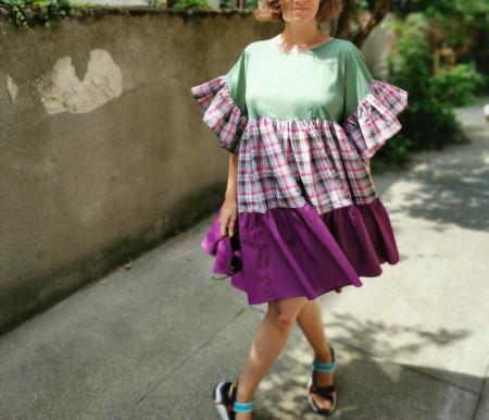 Butterflies and people Dress (model E)