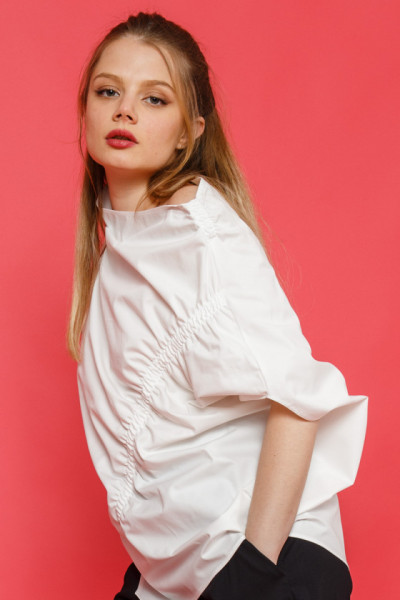 Sewed with a smiling stitch Blouse