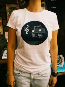 T-Shirt (Her) I LO-VE (Only in Romanian language)
