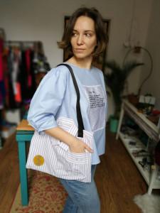 Traistă din cămașă reciclată