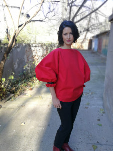 Wisdom is truth Blouse (Red)