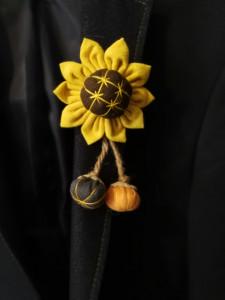 Broșă Floarea Soarelui