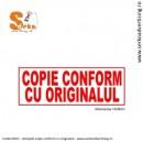 Stampila COPIE CONFORM CU ORIGINALUL