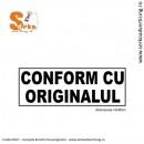 Stampila CONFORM CU ORIGINALUL
