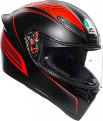 CASCA AGV K-1 WARMUP BLACK/RED
