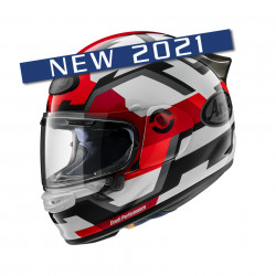 CASCA ARAI QUANTIC 2021 FACE RED