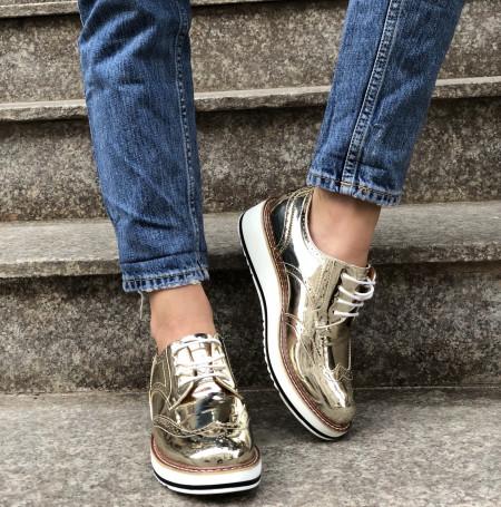 Pantofi Cod : 7A129 Gold
