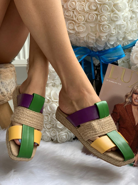 Papuci cod: Eda Fashion Green