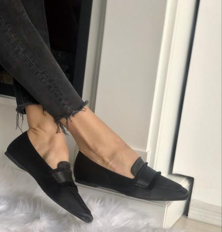 Pantofi Cod: KFL-508 Black Satin