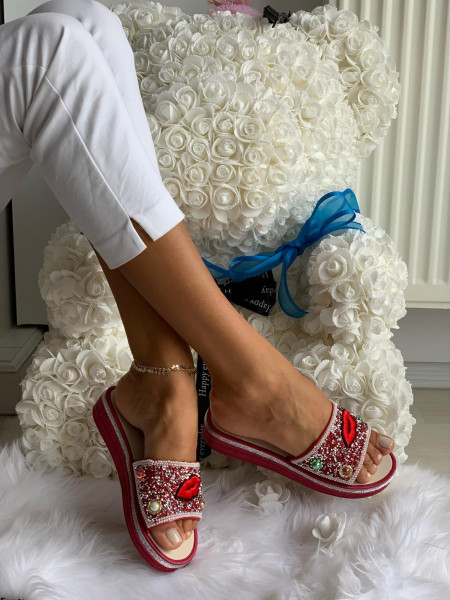 Papuci cod: Eda Lips Red