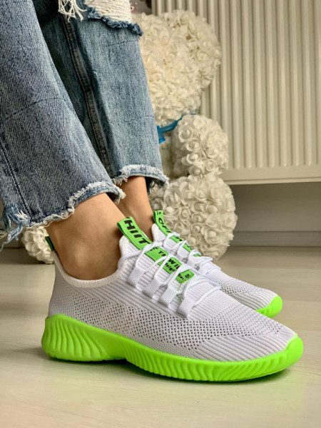 Pantofi sport cod: ZA-7 White/Green