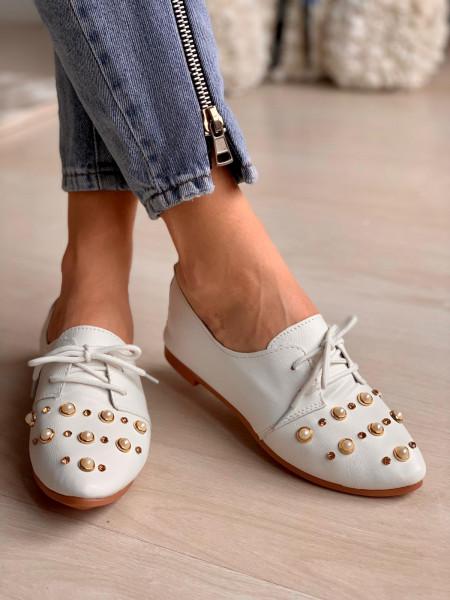 Pantofi Cod: 1602 White