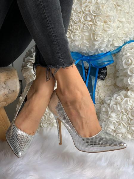 Pantofi cod: 99219 Silver