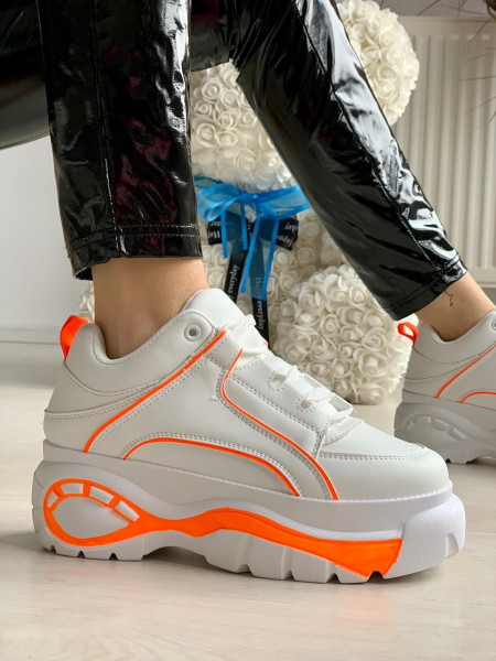 Pantofi Sport Cod: 1805 White/Orange