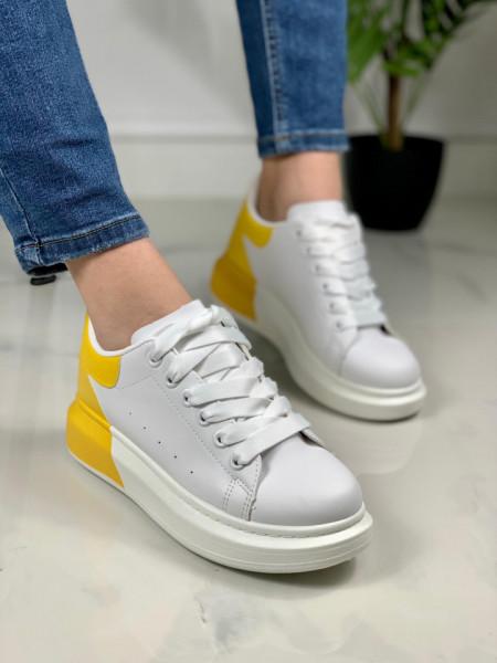 Pantofi sport cod: BK927-62 WHITE/YELLOW
