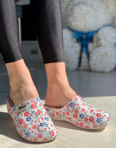 Papuci Dama cod: 112 FLOWER RED