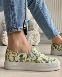 Espadrile cod: 1988 Flower Green