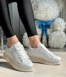 Pantofi Sport cod: 1801 All White
