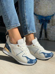 Pantofi sport cod: J182-5 White/Denim Blue