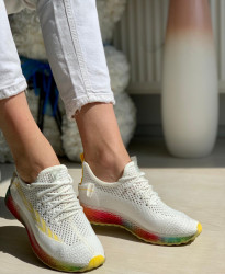 Pantofi Sport Cod: J77-3 White/Yellow