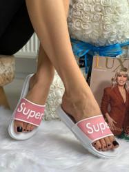 Papuci cod: Eda Super White/Pink