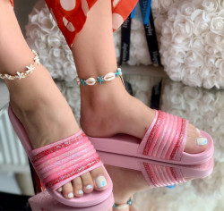 Papuci cod: Eda Rainbow Pink